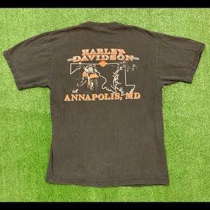 2007 Harley Davidson Annapolis, MD T-shirt. medium